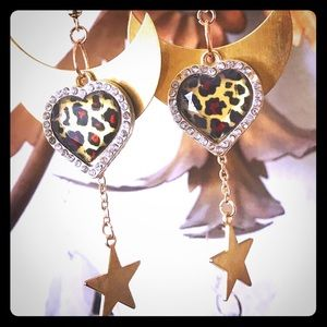 Jewelry - Cheetah, Moon and Starz earrings